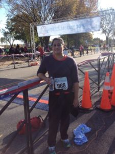 Ritija Gupta having completed the Veterans Day 10k in November 2013