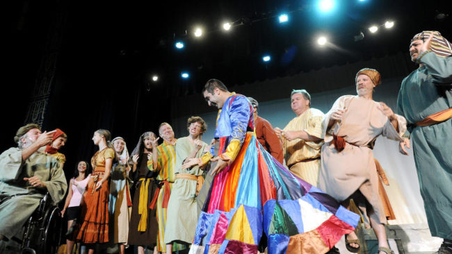 The cast of September Song's Joseph & The Amazing Technicolor Dreamcoat