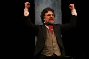 Phil Gallagher is Karl Marx in Marx in Soho at Spotlighters Theatre