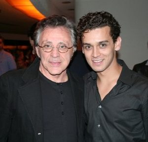 Frankie Valli (left) with Michael Longoria (right)