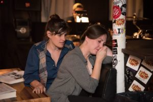 Moira Horowitz (left) as Michael and Sarah Heiderman (right) as Sara in Murder Ballad