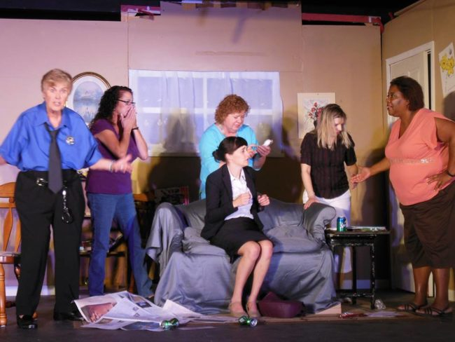 The female members of the cast of The Odd Couple (Female Version) at Artistic Synergy