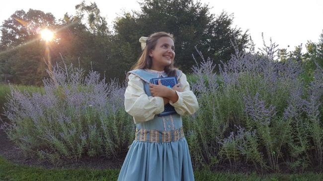 Carly Dagilis as Beatrix Potter in Peter Rabbit and Me at Pumpkin Theatre
