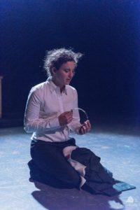 Allison McAlister as Henry V in Henry V at The Rude Mechanicals