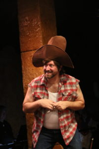 Jim Gross as Gunther in Das Barbecü at Spotlighters Theatre