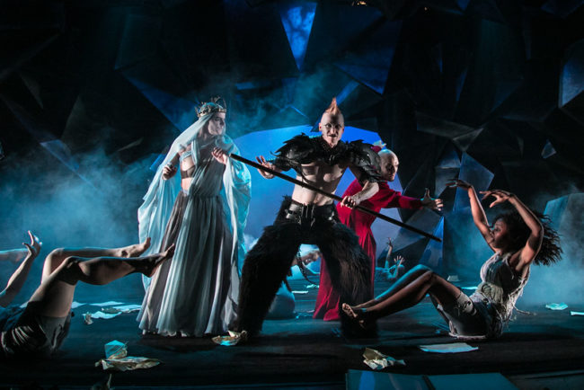 From Left to Right: Alex Mills (Virgil), Philip Fletcher (Demon), Vato Tsikurishvili (Dante) and Lauren Ashley (Soul)