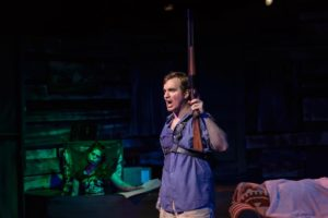 Ben Stoll as Ash in Evil Dead: The Musical at Red Branch Theatre Company