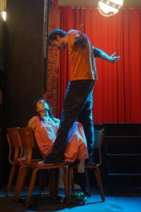 Allison Clendaniel (below) and Connor Kizer (above) rehearsing The Flower Queen