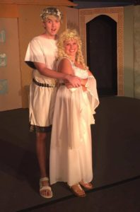 John Carter (left) as Hero and Katie Evans (right) as Philia