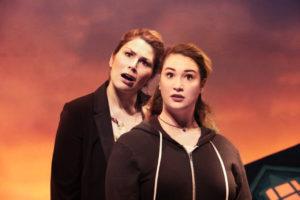 Heidi Blickenstaff (Katherine Blake) and Emma Hunton (Ellie Blake) in Disney's Freaky Friday at Signature Theatre through November 20, 2016.