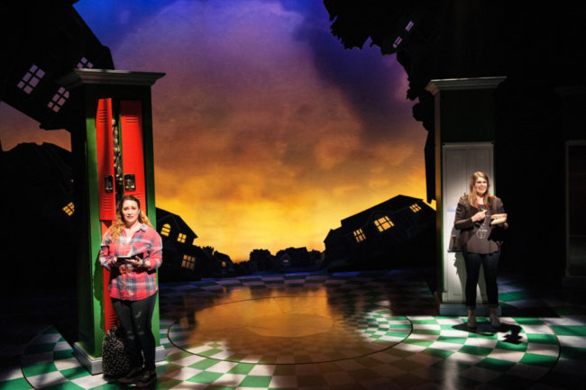 Emma Hunton (Ellie Blake) and Heidi Blickenstaff (Katherine Blake) in  Disney's Freaky Friday at Signature Theatre through November 20, 2016.