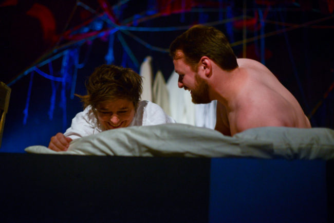 Genevieve de Mahy (left) and Matthew Shea (right) in Savage/Love
