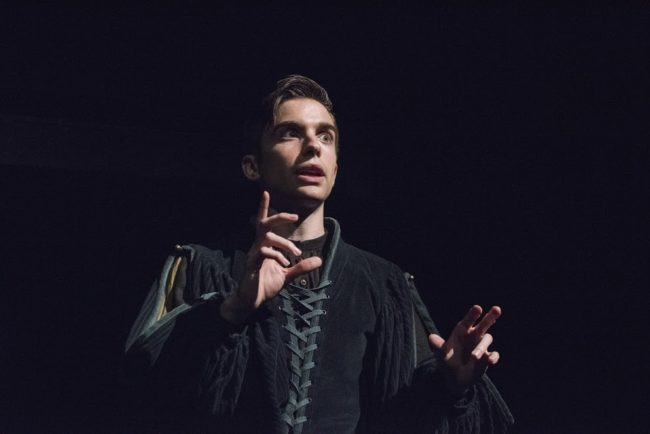 Phil Gillen as Hamlet in Hamlet at Compass Rose Theater