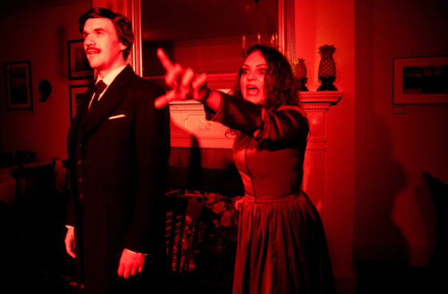 Brian Keith MacDonald (left) as Edgar Allan Poe and Renata Plecha (right) as 'She' in POE...and All the Others