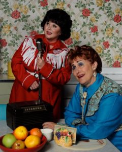 Tiffany Walker Porta Burrows (left) as Patsy Cline and Maribeth Vogel (right) as Louise Seger in Always...Patsy Cline