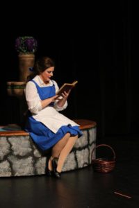 Emily L. Sergo as Belle in Beauty & The Beast at Charm City Players