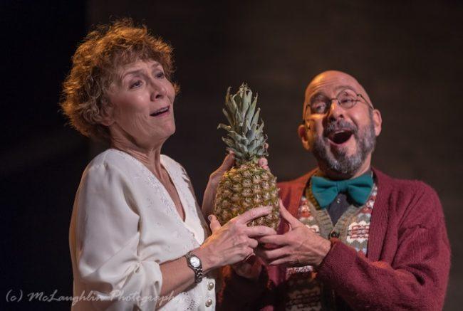 Liz Weber (left) as Fraulein Schneider and Chuck Dluhy (right) as Herr Schultz in Cabaret