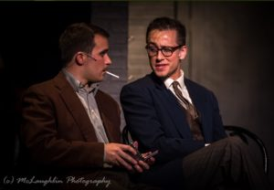 Matt Trollinger (left) as Cliff Bradshaw and Garrett Zink (right) as Ernst Ludwig in Cabaret
