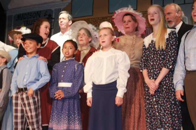 The cast of Music Man at St. Gabriel Miracle Players
