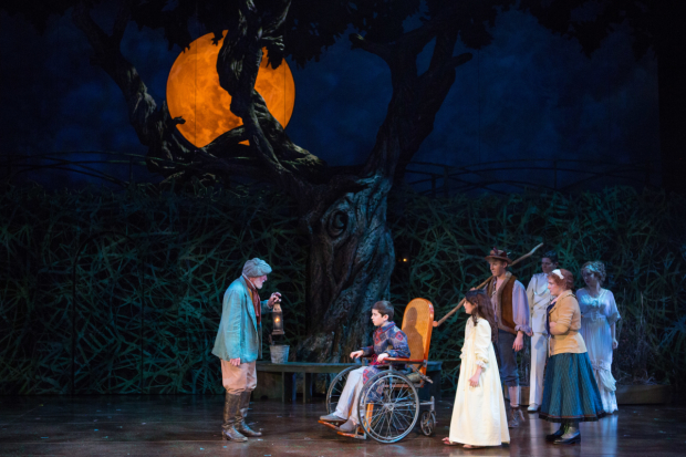 (L to R) Sean G. Griffin as Ben Weatherstaff, Henry Baratz as Colin Craven, Anya Rothman as Mary Lennox, Charlie Franklin as Dickon, Jason Forbach as Spirit of Captain Albert Lennox, Daisy Eagan as Martha, and Brittany Baratz as Spirit of Rose Lennox
