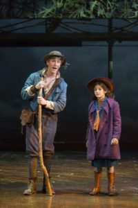 Charlie Franklin (left) as Dickon and Anya Rothman (right) as Mary Lennox in The Secret Garden