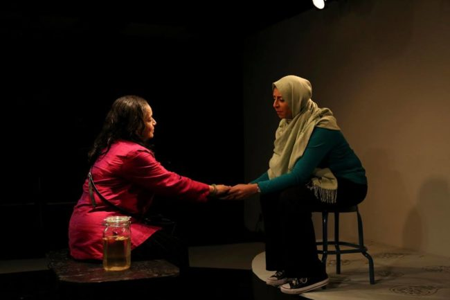 Meera Narasimhan (left) as Aunt Sarrinah and Nayab Hussain (right) as Shafana in Soft Revolution