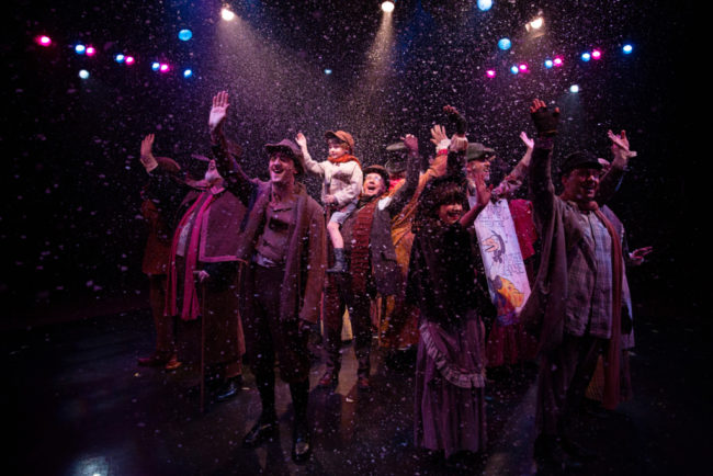 The Company finale of A Christmas Carol at Toby's Dinner Theatre