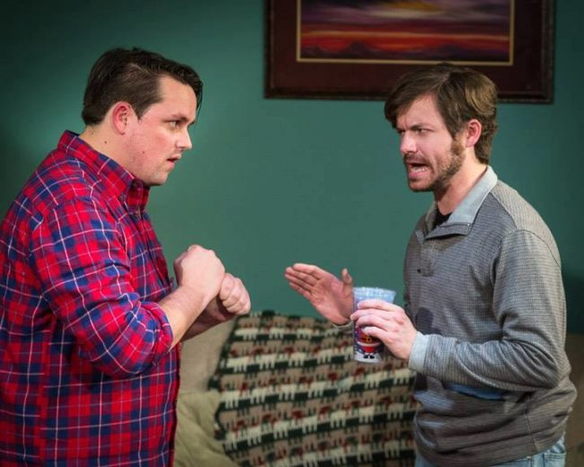 Thom Huenger (left) as RJ and Steve Custer (right) as Andy in Family Holiday