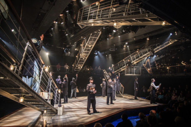 The cast of Titanic at Signature Theatre through January 29