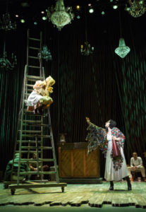 Lisa Helmi Johanson as Rapunzel and Vanessa Reseland as The Witch in Into The Woods. Photo by Joan Marcus