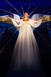 Emily Noël appears as an Angel in the holiday production of The Second Shepherds' Play