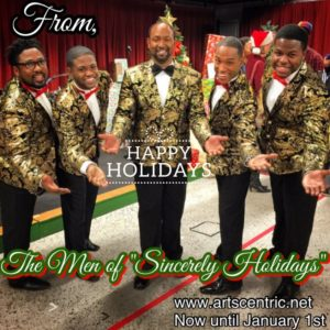 The Men of Sincerely, Holidays: (L to R) David Hammett, Kymon George Carriker, Cedric D. Lyles, Bryan Jeffrey Daniels, and Marquis James