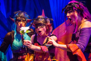 Francesca Blume, Kathy Gordon and Emily Whitworth as the Fairies