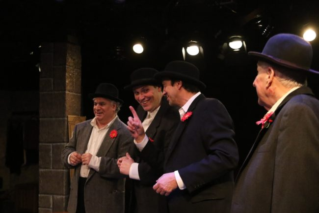(L to R) Glen Charlow as Wally the Weeper, Stuart Kazanow as Matt of the Mint, Jim Knost as Crook-fingered Jake, and Dave Guy as Sawtooth Bob.