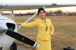 Nina Marti as Gabriella in Boeing Boeing