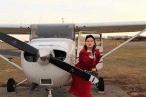 Ashley Zielinski as Gloria in Boeing Boeing