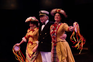 Robert John Biedermann 125 (center) as Captain Andy at Captain Andy's Ballyhoo aboard the Cotton Blossom
