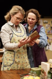 Lynn Hawley and Maryann Plunkett in Hungry, Play One of The Gabriels: Election Year in the Life of One Family, written and directed by Richard Nelson.