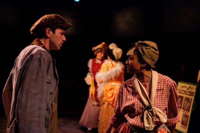Jeremy Scott Blaustein (left) as Pete and Samantha Deininger (right) as Queenie