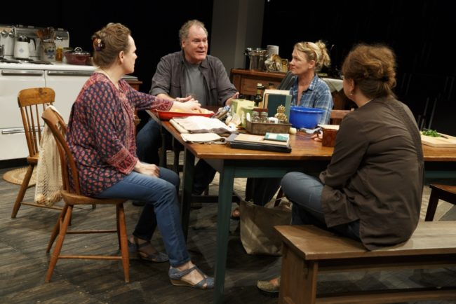 Maryann Plunkett, Jay O. Sanders, Lynn Hawley, and Amy Warren in What Did You Expect?, Play Two of The Gabriels: Election Year in the Life of One Family, written and directed by Richard Nelson
