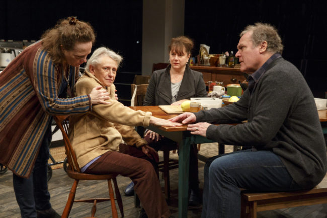 Maryann Plunkett, Roberta Maxwell, Amy Warren, and Jay O. Sanders in Women of a Certain Age, Play Three of The Gabriels: Election Year in the Life of One Family,written and directed by Richard Nelson.