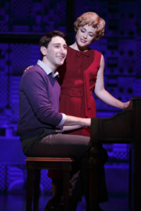 Ben Fankhauser (left) as Barry Man and Erika Olson (right) as Cynthia Weil in Beautiful: The Carole King Musical