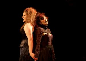 Rebecca Speas (left) as Emma Borden and Alani Kravitz (right) as Lizzie Borden