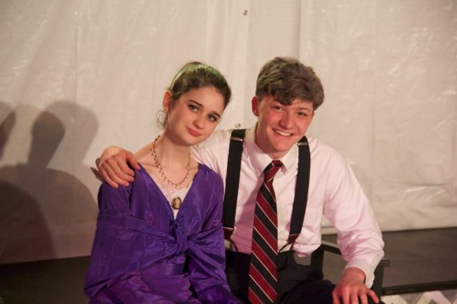 Victoria Sova (left) as Kate Keller and Asa Kienitz-Kincade (right) as Joe Keller in All My Sons