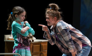 Caroline Rilette (left) as Kayden and Caroline Dubberly (right) as Cynthia in Baby Screams Miracle