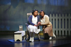 Nova Y. Payton (Caroline Thibodeaux) and Korinn Walfall (Emmie Thibodeaux) in Round House Theatre's current production of CAROLINE, OR CHANGE.