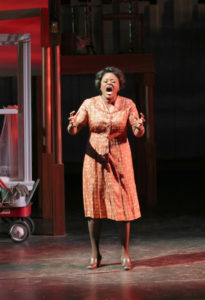 Nova Y. Payton as Caroline Thibodeaux in Round House Theatre's current production of CAROLINE, OR CHANGE.