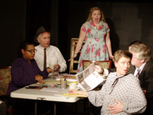 The cast of Laurel Mill Playhouse's Laughter on the 23rd Floor