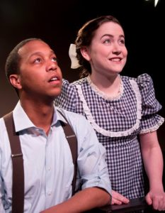 JC Payne (left) as George Gibbs and Amber James (right) as Rebecca Gibbs in Our Town