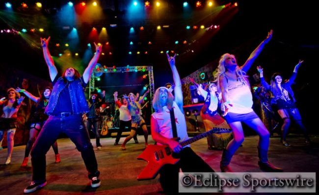 The cast of Rock Of Ages at Milburn Stone Theatre